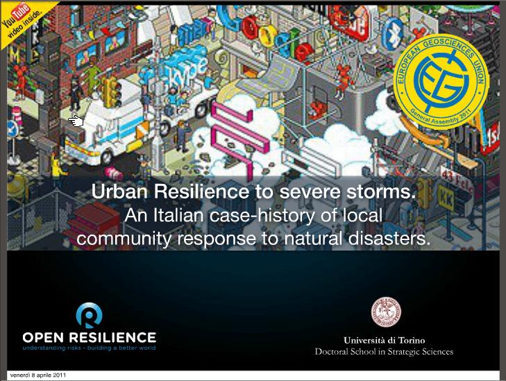 EGU 2011 | Urban Resilience